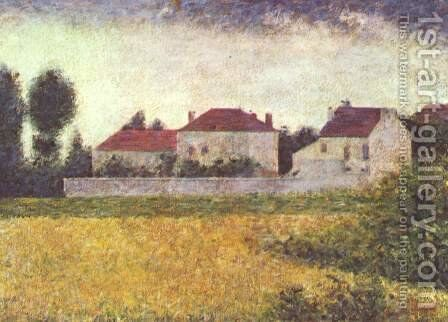 White Houses  Ville D Avray by Georges Seurat - Reproduction Oil Painting