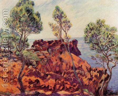 Agay   The Red Rocks by Armand Guillaumin - Reproduction Oil Painting