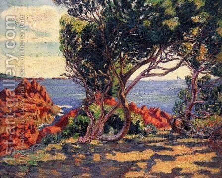 Agay  At Cap Long by Armand Guillaumin - Reproduction Oil Painting