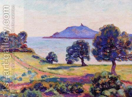 Agay  The Chateau And The Signal Tower by Armand Guillaumin - Reproduction Oil Painting