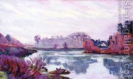 Banks Of The Marne In Winter by Armand Guillaumin - Reproduction Oil Painting