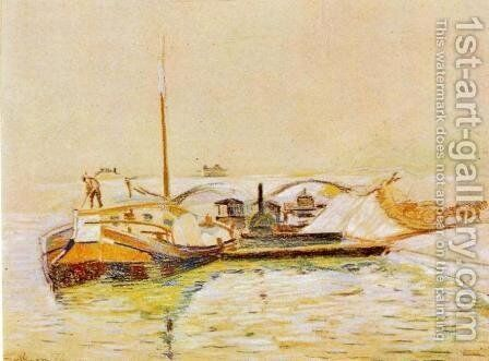 Barge by Armand Guillaumin - Reproduction Oil Painting