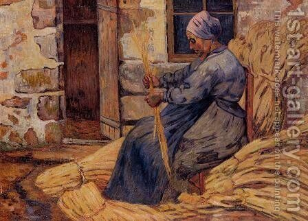 Basket Maker  Damiette by Armand Guillaumin - Reproduction Oil Painting
