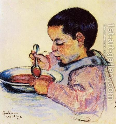 Child Eating Soup by Armand Guillaumin - Reproduction Oil Painting