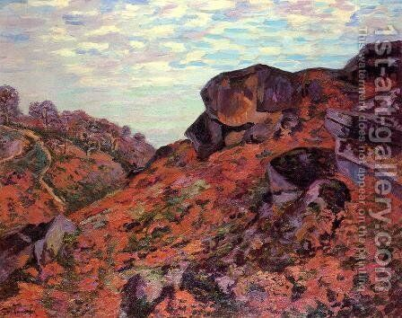 Creuse Landscape by Armand Guillaumin - Reproduction Oil Painting