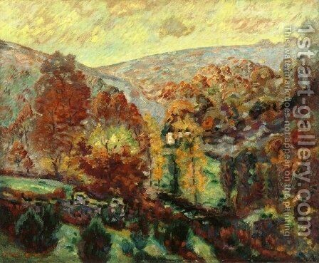 Crozant Landscape2 by Armand Guillaumin - Reproduction Oil Painting