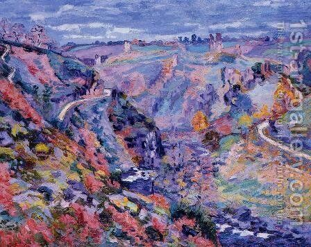 Crozant Landscape3 by Armand Guillaumin - Reproduction Oil Painting