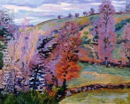 Crozant Landscape Aka Grey Weather by Armand Guillaumin - Reproduction Oil Painting
