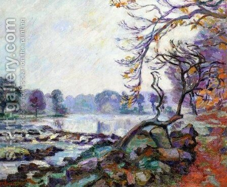 Dam At Genetin  Crozant by Armand Guillaumin - Reproduction Oil Painting