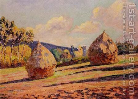 Grainstacks by Armand Guillaumin - Reproduction Oil Painting