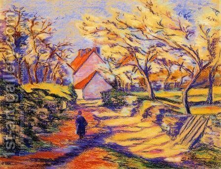 In The Countryside by Armand Guillaumin - Reproduction Oil Painting