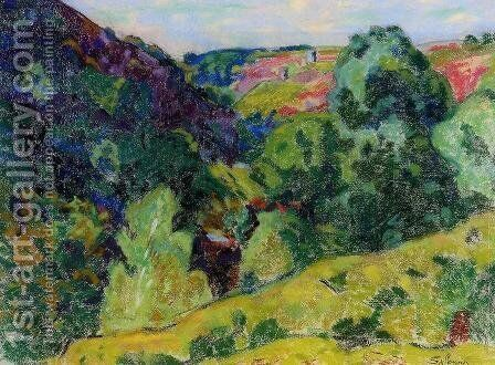 La Creuse Landscape by Armand Guillaumin - Reproduction Oil Painting