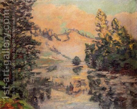 Landscape   The Creuse by Armand Guillaumin - Reproduction Oil Painting