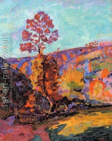 Landscape At Crozant by Armand Guillaumin - Reproduction Oil Painting