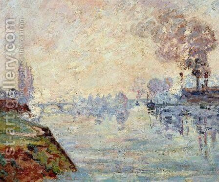 Landscape In The Vicinity Of Rouen by Armand Guillaumin - Reproduction Oil Painting
