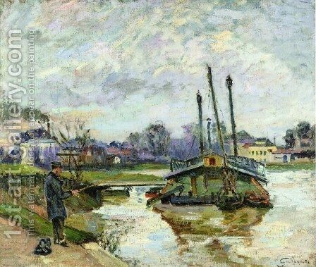 Laundry Boat At Charenton by Armand Guillaumin - Reproduction Oil Painting
