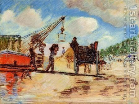 Le Charrois Au Bord De La Seine by Armand Guillaumin - Reproduction Oil Painting