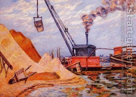 Le Quai DAusterlitz by Armand Guillaumin - Reproduction Oil Painting