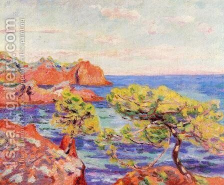 Le Trayas by Armand Guillaumin - Reproduction Oil Painting