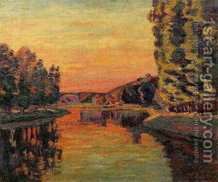 Moret  July 1902 by Armand Guillaumin - Reproduction Oil Painting