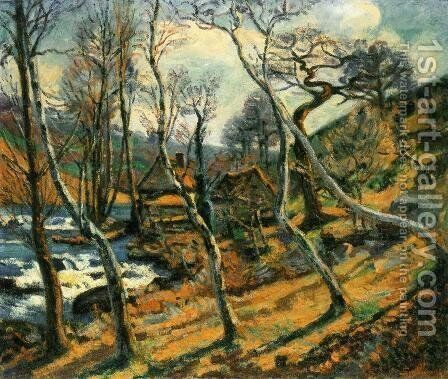 Moulin Bouchardon  Crozant by Armand Guillaumin - Reproduction Oil Painting
