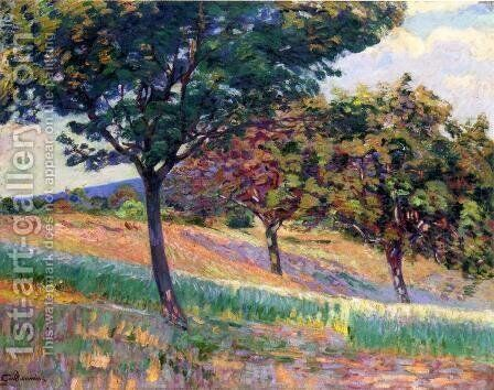 Orchard At The Edge Of The Woods In Saint Cheron by Armand Guillaumin - Reproduction Oil Painting