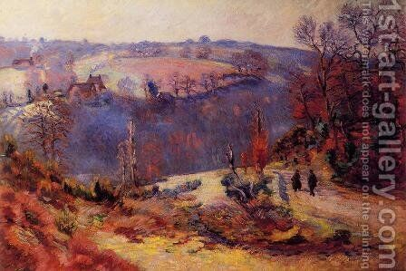 Pont Charraud   Hoarfrost by Armand Guillaumin - Reproduction Oil Painting