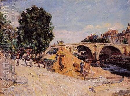 Pont Marie From The Quai D Anjou by Armand Guillaumin - Reproduction Oil Painting