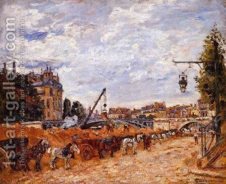 Pont Marie  Quai Sully by Armand Guillaumin - Reproduction Oil Painting