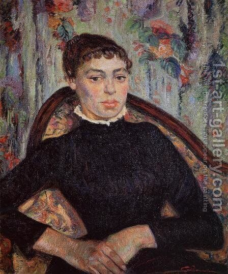 Portrait Of A Young Girl by Armand Guillaumin - Reproduction Oil Painting
