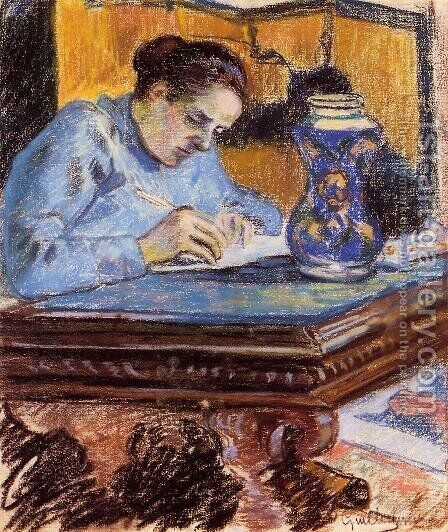 Portrait Of Madame Guillaumin2 by Armand Guillaumin - Reproduction Oil Painting