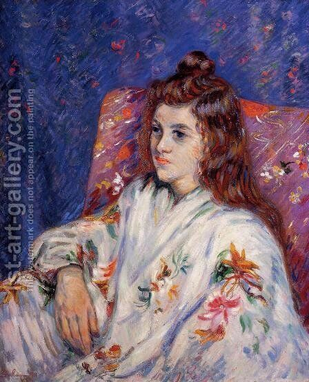 Portrait Of Madeleine by Armand Guillaumin - Reproduction Oil Painting