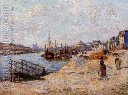 Quai De Bercy by Armand Guillaumin - Reproduction Oil Painting