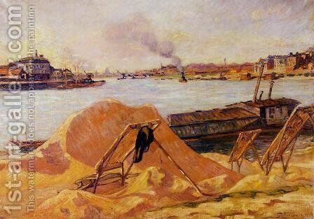 Quay De Bercy by Armand Guillaumin - Reproduction Oil Painting