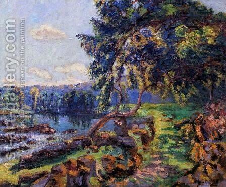 Rapids At Genetin by Armand Guillaumin - Reproduction Oil Painting