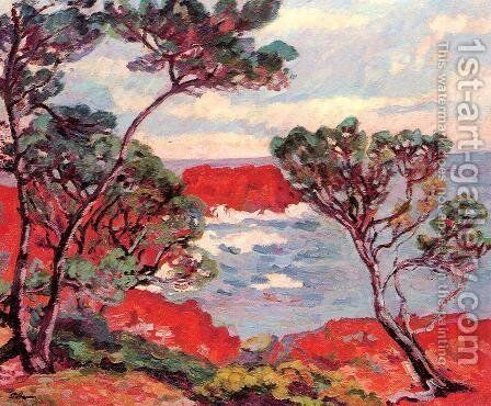 Red Rocks by Armand Guillaumin - Reproduction Oil Painting