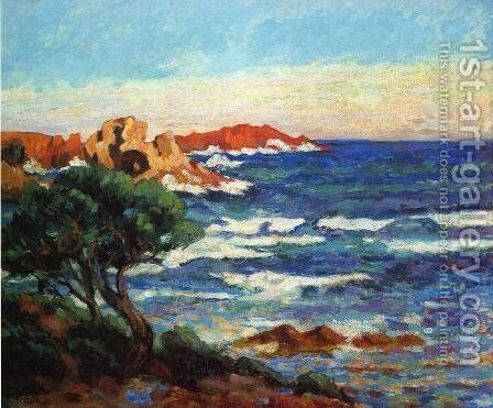 Red Rocks2 by Armand Guillaumin - Reproduction Oil Painting