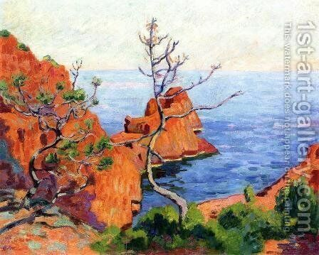 Rocks At Trayas by Armand Guillaumin - Reproduction Oil Painting