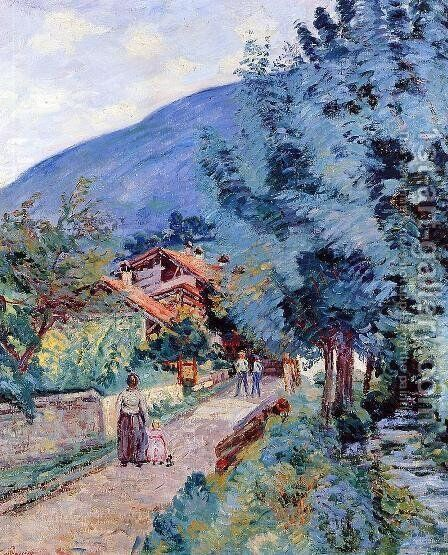 Rue De La Scierie   Pontcharra by Armand Guillaumin - Reproduction Oil Painting