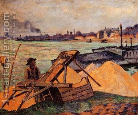 Sifting Sand by Armand Guillaumin - Reproduction Oil Painting