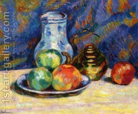 Still Life With Apples by Armand Guillaumin - Reproduction Oil Painting
