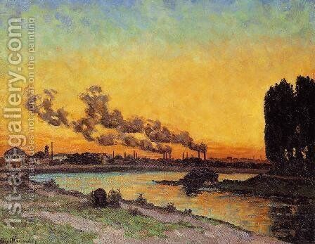 Sunset At Ivry 1873 by Armand Guillaumin - Reproduction Oil Painting