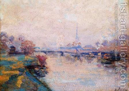 The Banks Of The Seine At Paris by Armand Guillaumin - Reproduction Oil Painting