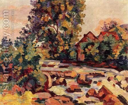 The Bouchardon Lock by Armand Guillaumin - Reproduction Oil Painting