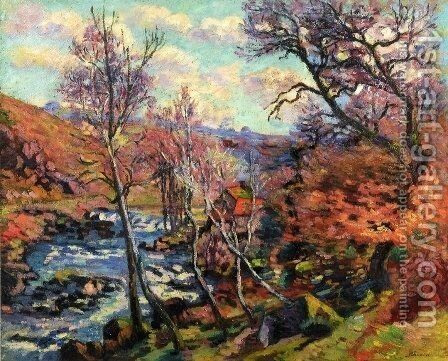 The Bouchardon Mill At Crozant by Armand Guillaumin - Reproduction Oil Painting