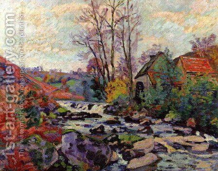 The Bouchardon Mill  Crozant by Armand Guillaumin - Reproduction Oil Painting