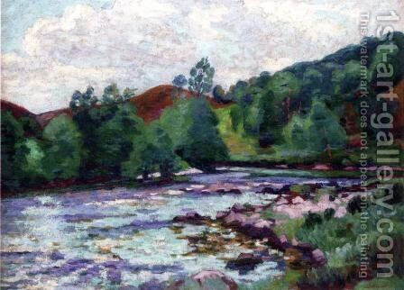The Dam At Ganetin by Armand Guillaumin - Reproduction Oil Painting