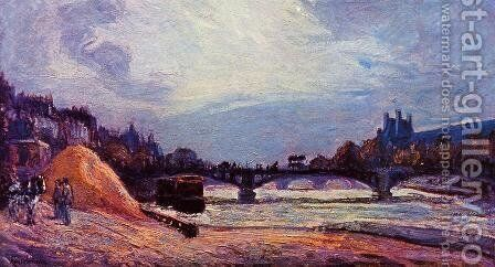 The Pont Des Arts by Armand Guillaumin - Reproduction Oil Painting