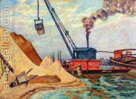 The Quai DAusterlitz by Armand Guillaumin - Reproduction Oil Painting