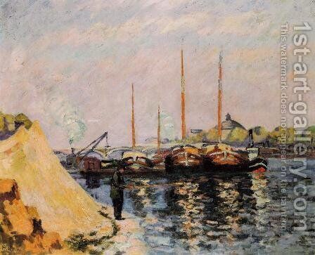 The Quay DAusterlitz  Morning by Armand Guillaumin - Reproduction Oil Painting